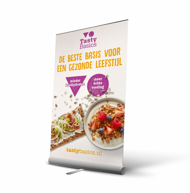 Aha Creative | Case: Tasty Basics | Rollup banner